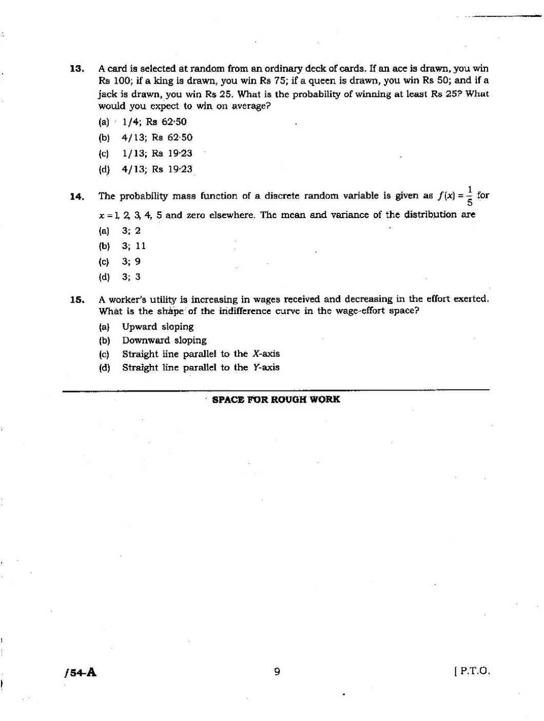 JNU MA Economics Entrance Question Papers - Page 2 - 2018