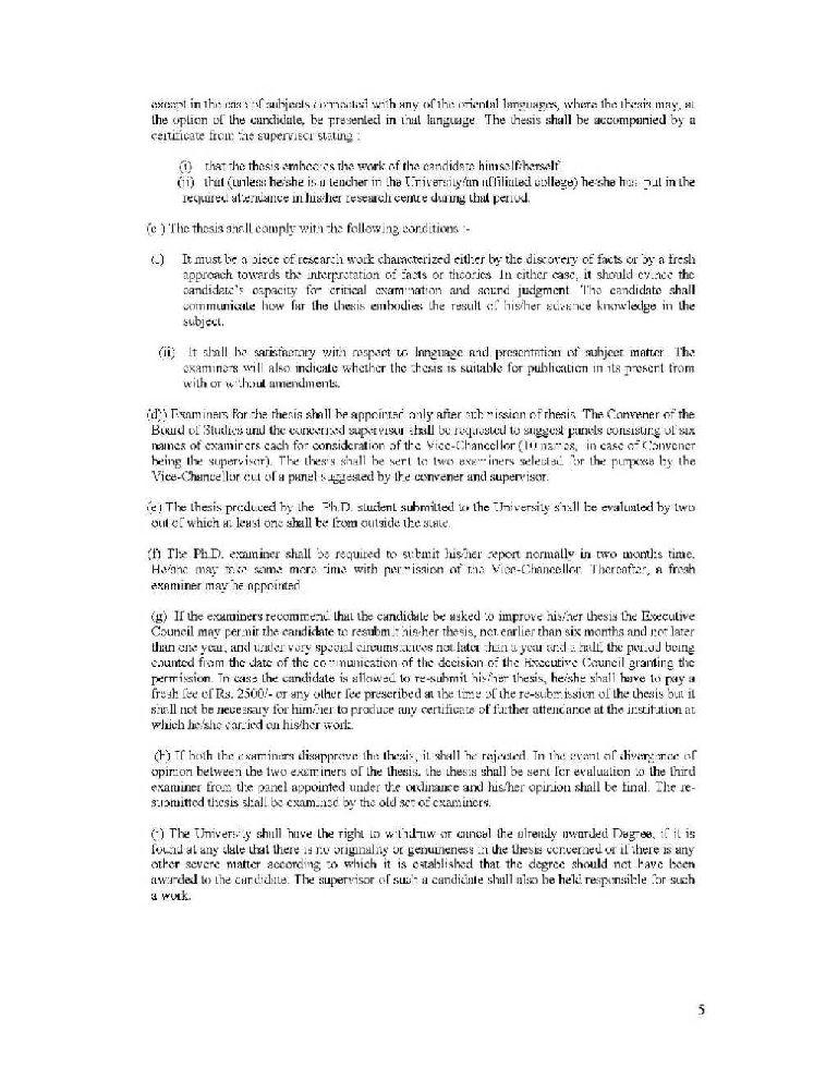 Kumaun University Ph.d admission application form?