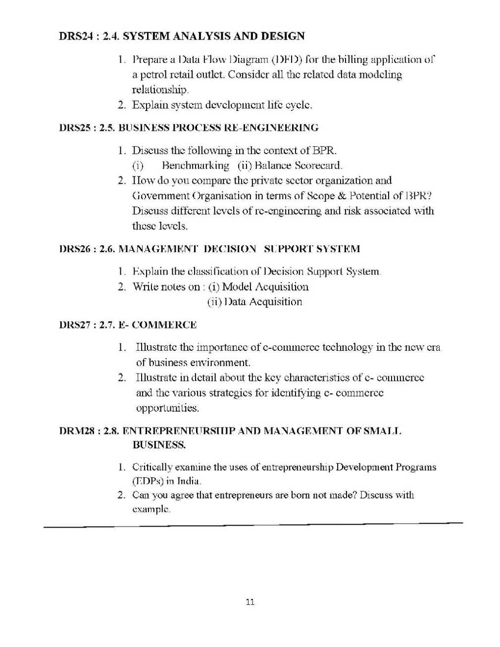 MBA Third Semester Assignment MBA Assignment Topics - 2018