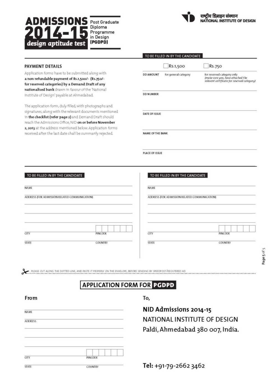 NID online application form