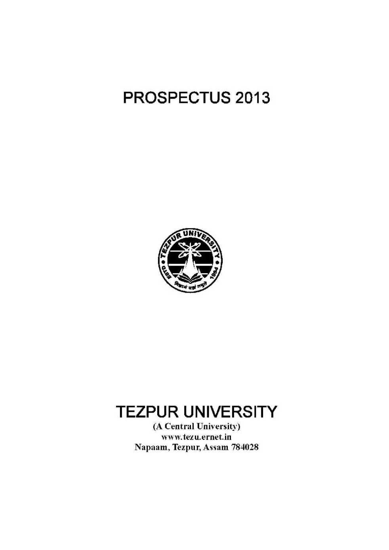 Tezpur University Mba Admission 2017 Aglasem