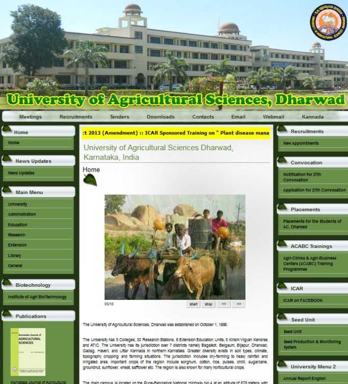 University of Agricultural Sciences - Dharwad, Dharwad ...