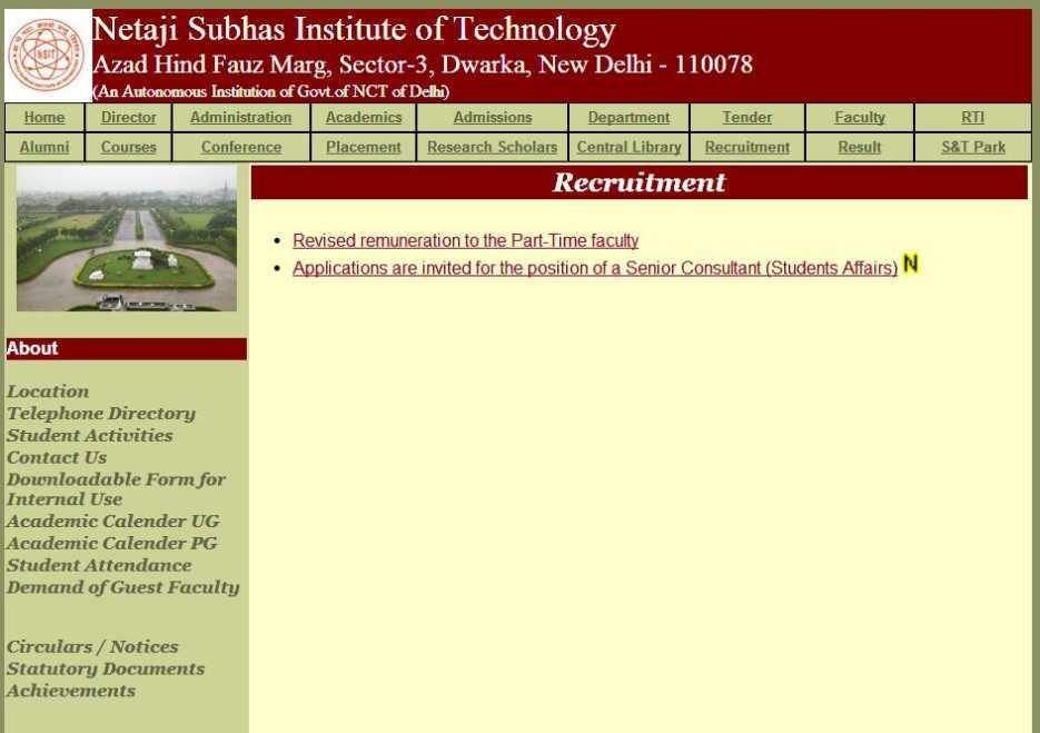 netaji subhas institute of technology tinder dating site
