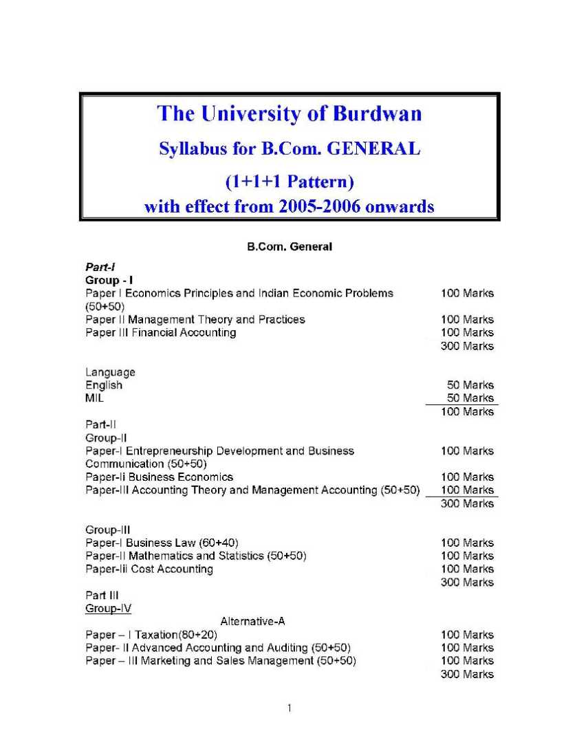Eligibility Criteria for Honours and General