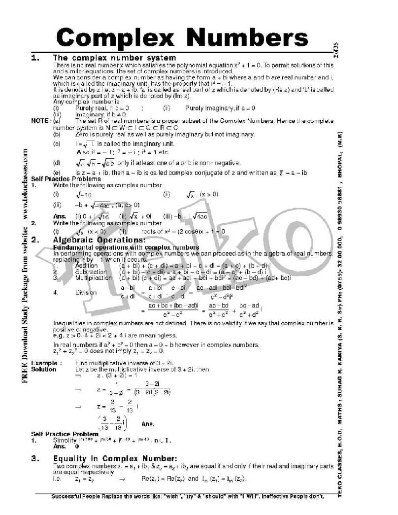 Chapter Wise IIT JEE Notes Mains|Advanced|Phy|Che|Maths