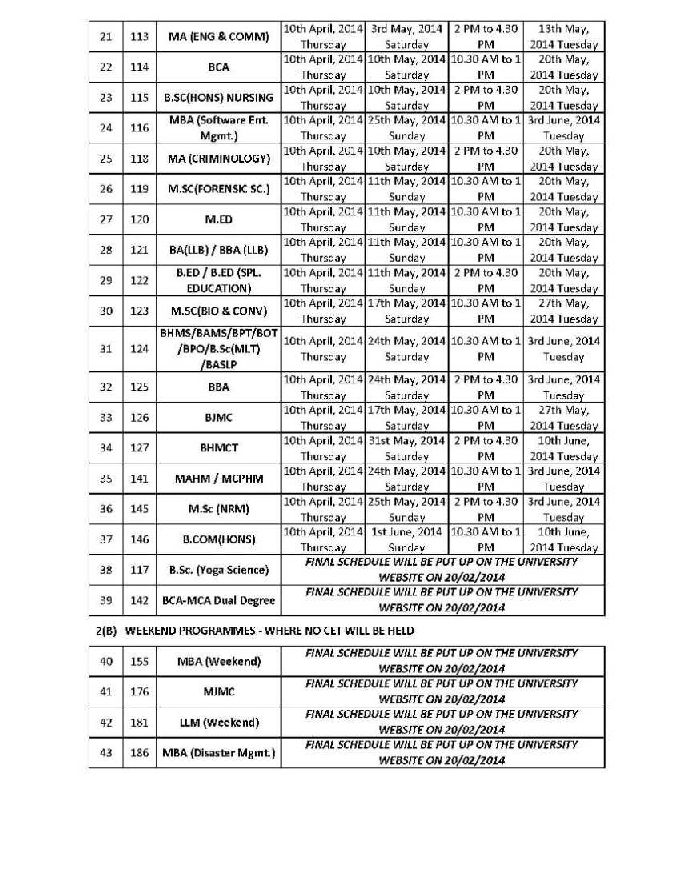 ipu assessment Corrigendum- final datesheet for llm(weekend) programme for supplementary  examinations, 31-08-2018 oral examination/evaluation of phd thesis of ms.