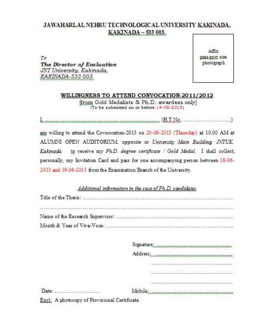 Convocation jntu pdf 2012 anantapur form application
