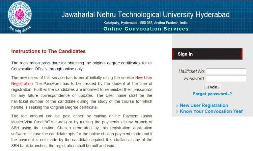 Jntu original degree application form download