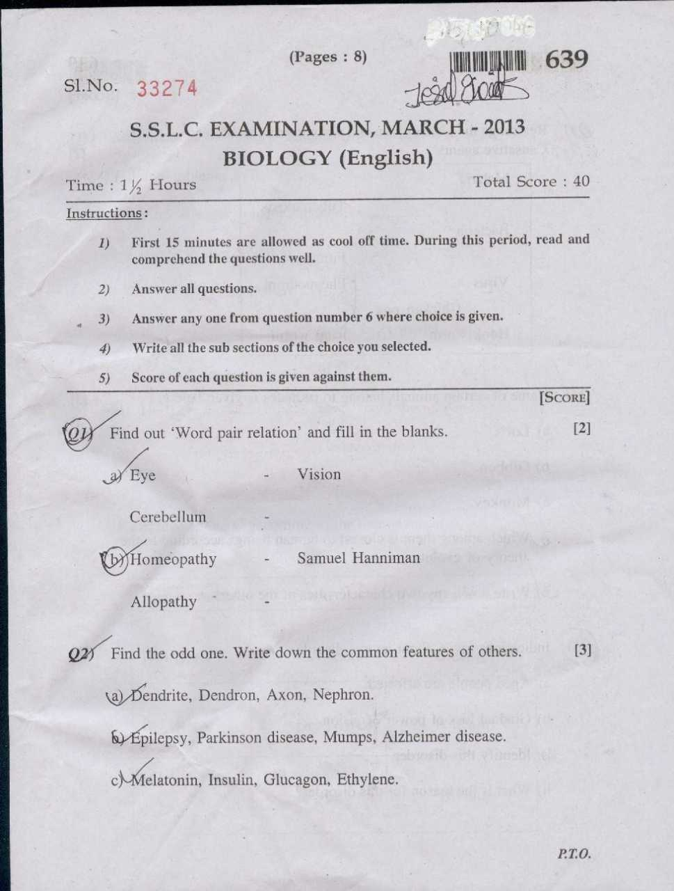 Sample Question Paper For Class 7 Icse Physics - nstse