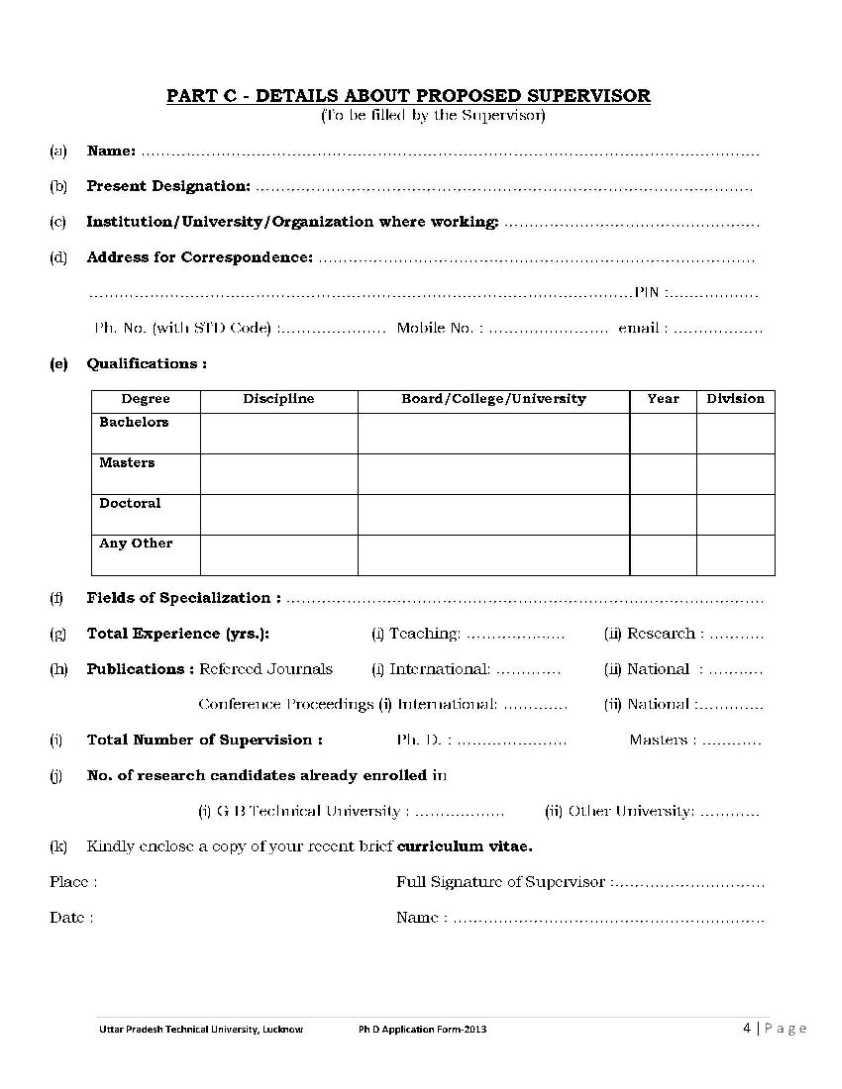 Dissertation supervisors