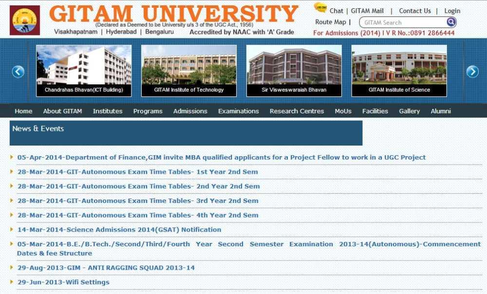 Gitam Examination Results - #Summer