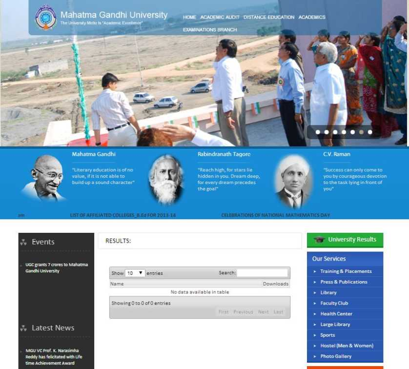 Mahatma Gandhi University Nalgonda Logo Mahatma Gandhi University