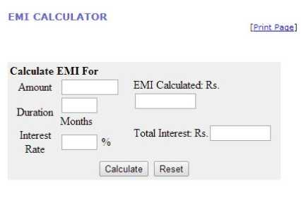 EMI Calculator India  Home Loan Personal amp Car Loan