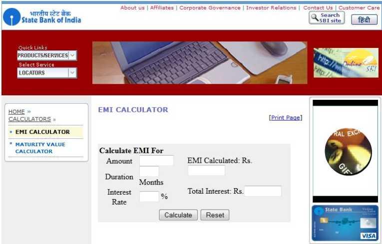 Car Loan Interest Calculator Sbi