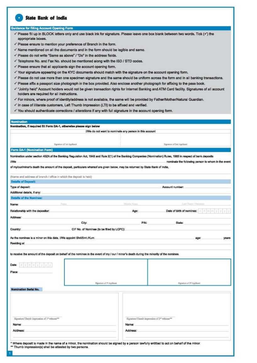 Download Forms - SBI Corporate Website