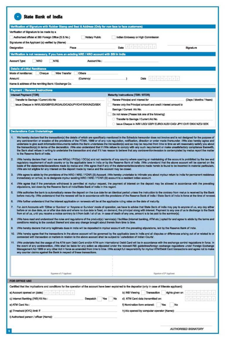 Forms Central - Download All SBI Credit Card Forms