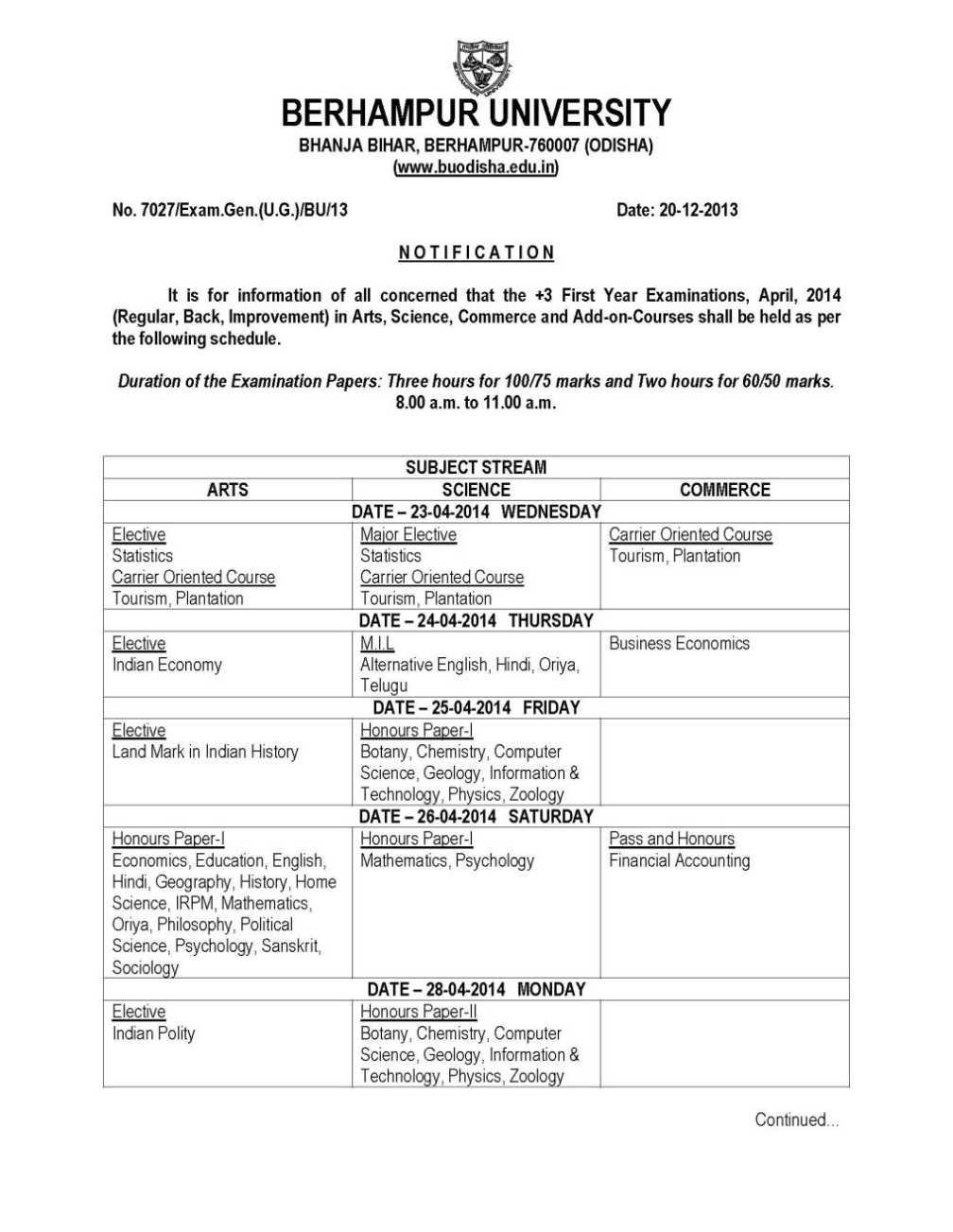 Uni mannheim exam dates