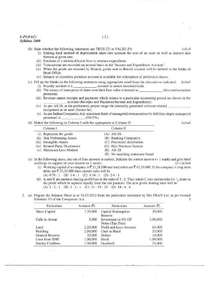 Intermediate public exam papers