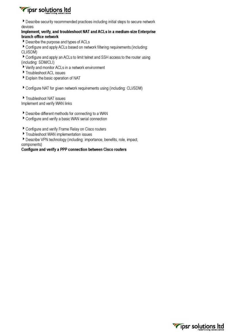 CCNA Exam Topics - The Cisco Learning Network