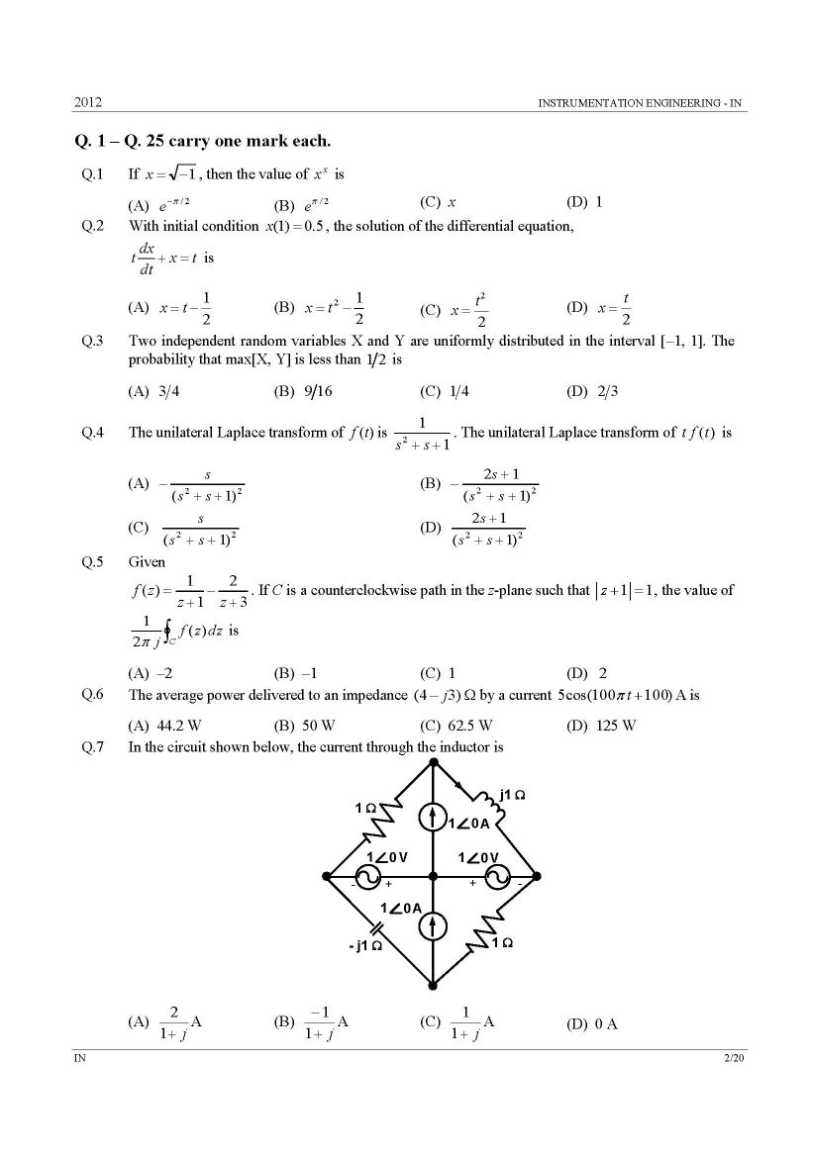 graduate aptitude test in engineering instrumentation engineering graduate aptitude test in engineering instrumentation engineering papers 2017 2018 studychacha