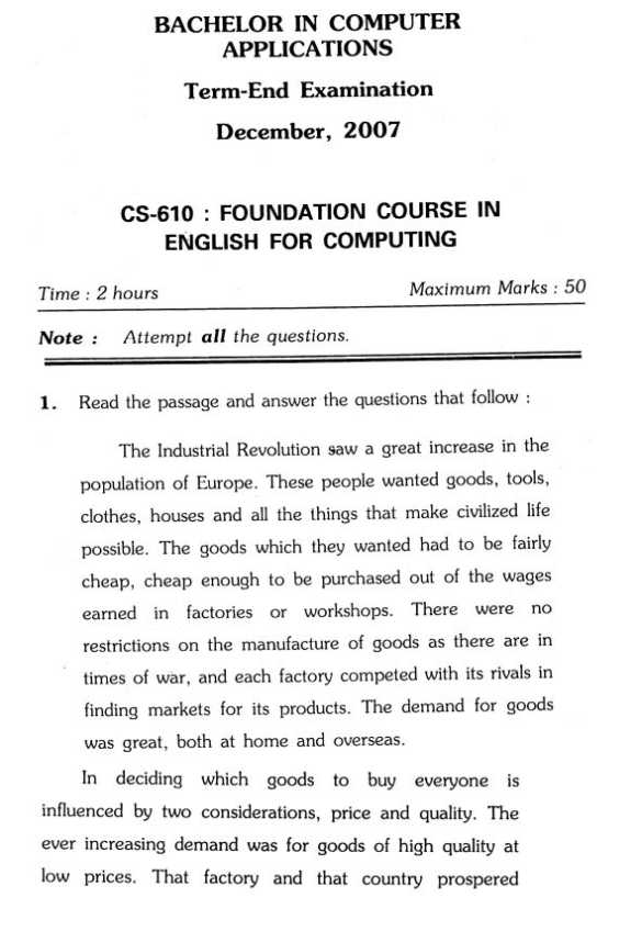 bca exam papers Previous exam question papers ug - part i & ii  common language question papers  computer application (dca, pgdca, mcom, bca & mca.