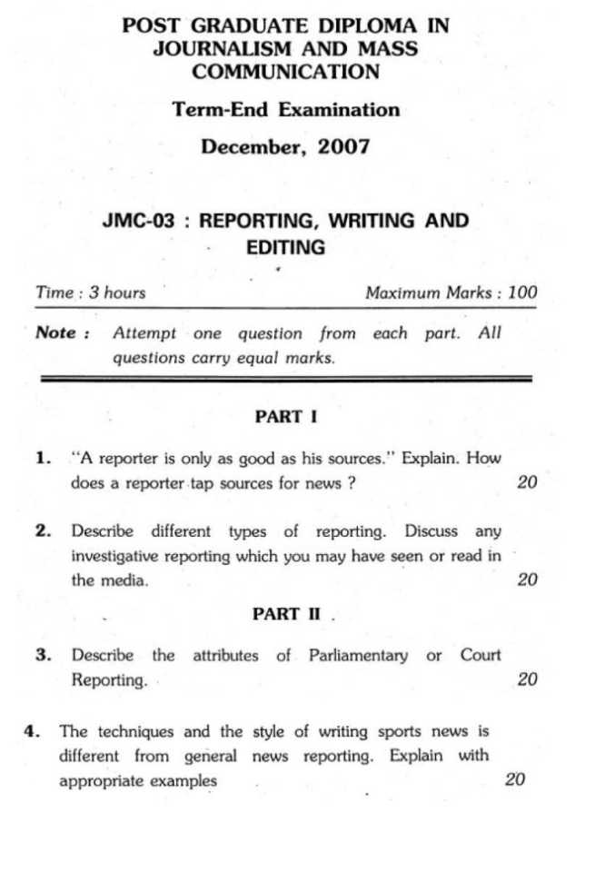 mass communication journalism essay Under graduate (ba) programme in mass communication & journalism, mg university, kottayam scheme, syllabus and model question papers wef 2016-17 admissions.
