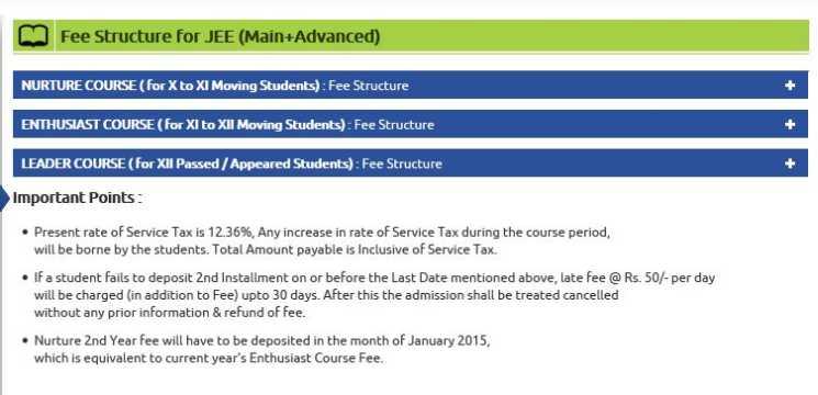 allen lucknow fee structure