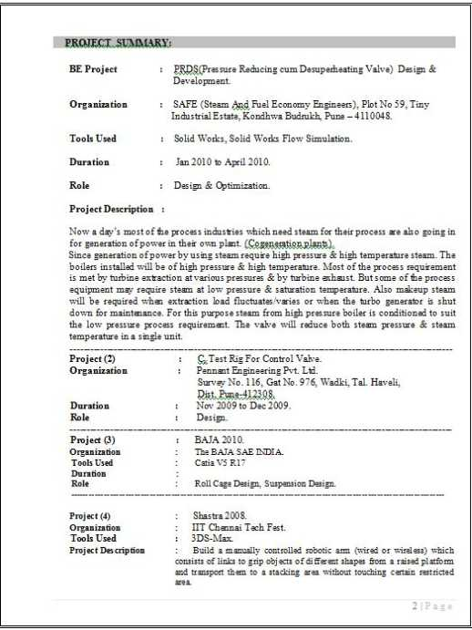 me sample resumes for candidate of b tech ece