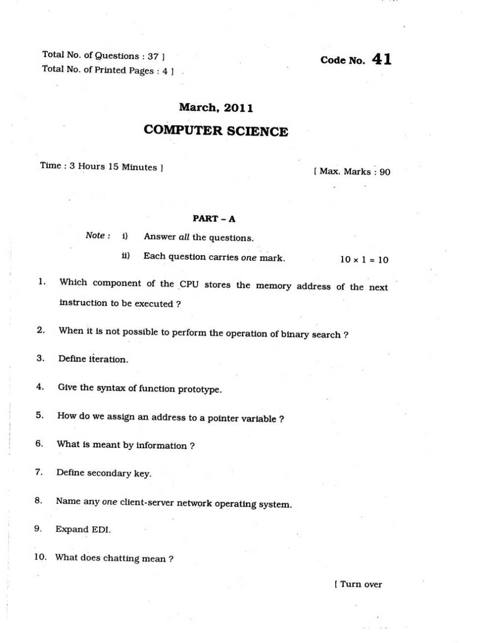 nd puc question papers of computer studychacha what is meant by information define secondary key any one client server network operating system what does chatting mean