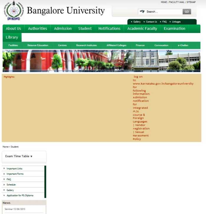 Bangalore university ba time table 2018 2019 studychacha for 6th sem time table
