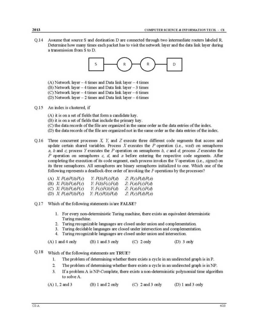 gate computer science engineering stream previous year