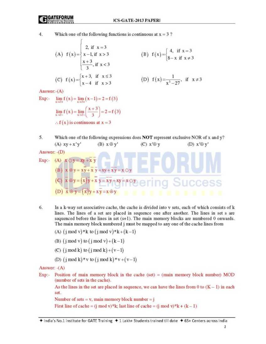 Previous gate mathematics papers