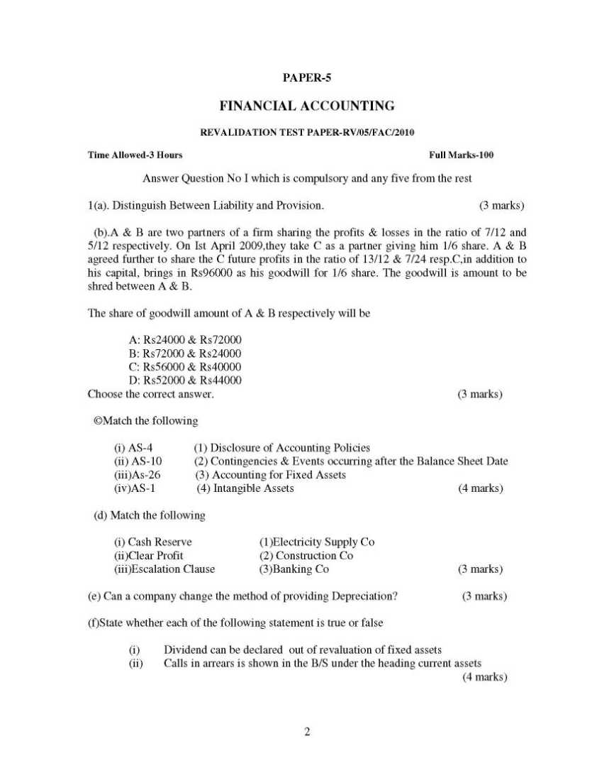 financial accounting questions and answers pdf free