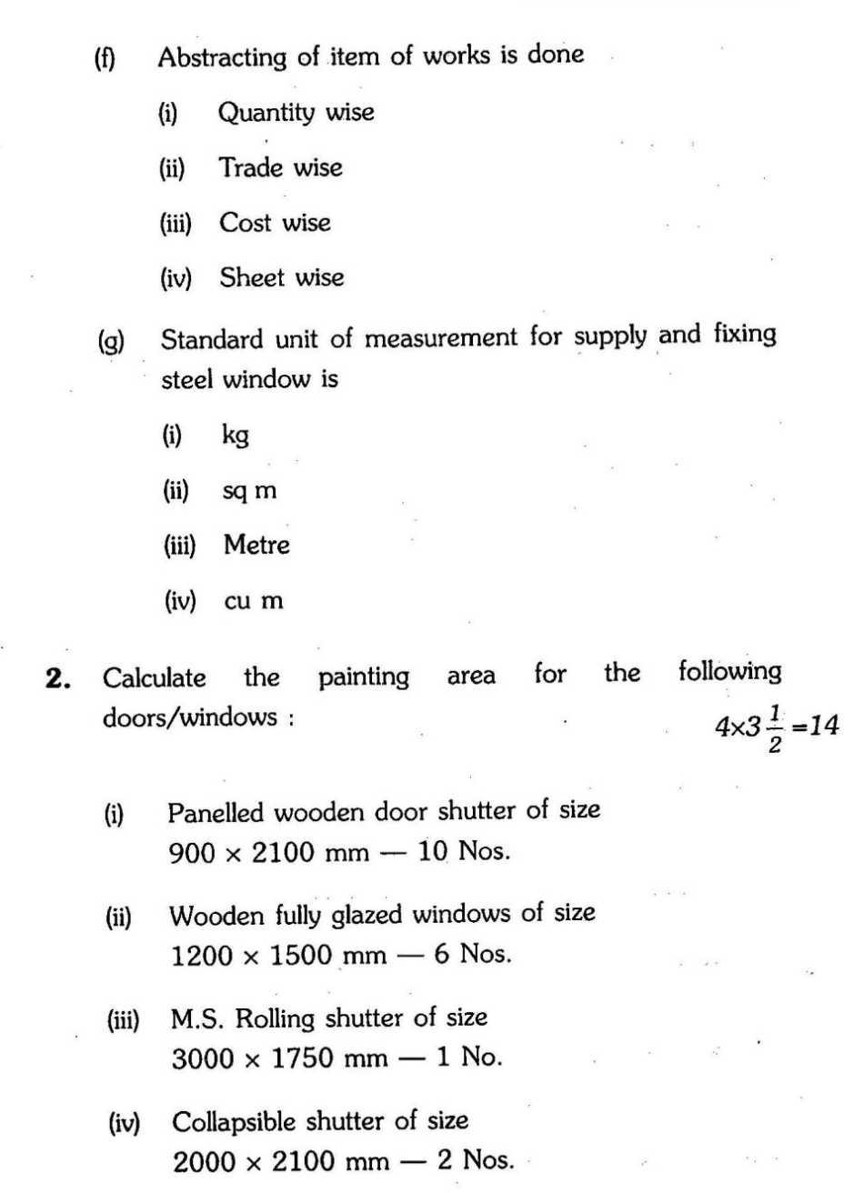 IGNOU Diploma in Civil Engineering-Estimating & Quantity