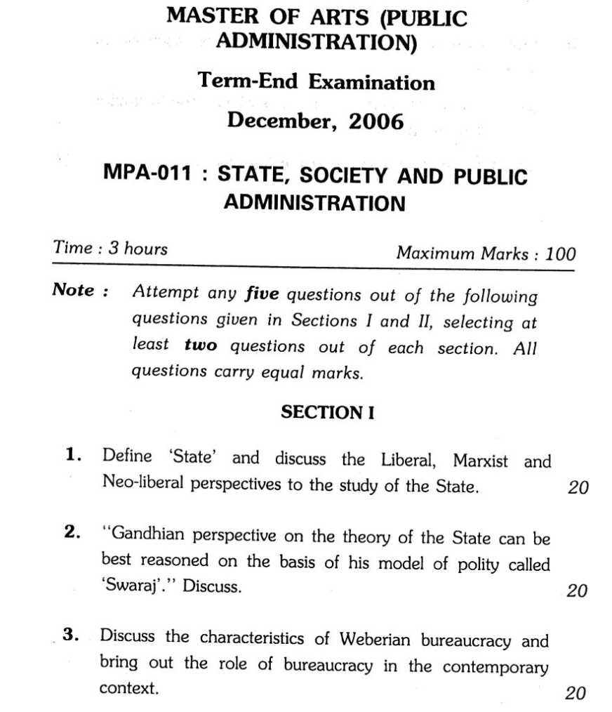 ignou ma in public administration public systems management exam  ignou ma in public administration public systems management exam papers 2018 2019 studychacha