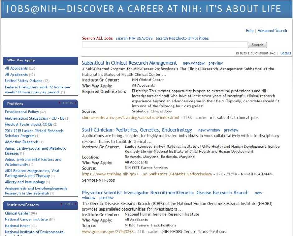 medical job search websites