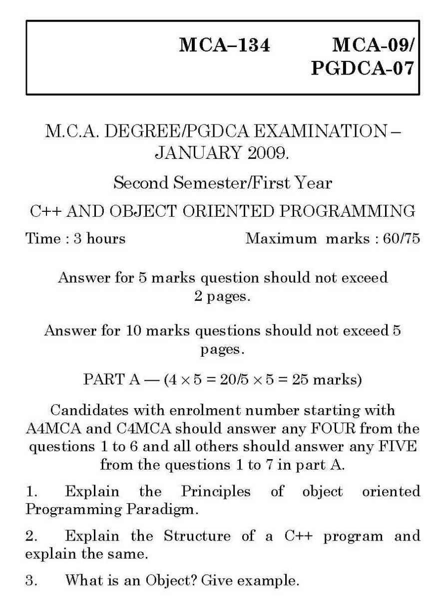 Tnou mca 1st year c and object oriented programming exam papers tamil nadu open university mca 1st year c and object oriented programming mca 09 exam previous years question paper baditri Image collections