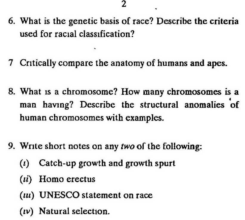 Anthropology Question?