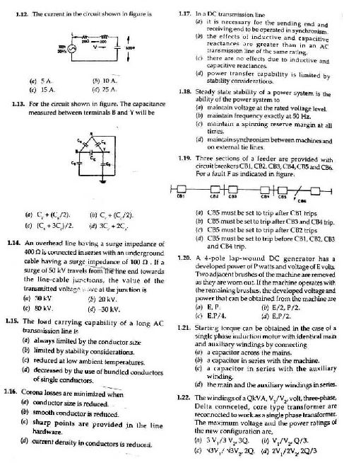 electrical engineering aptitude test pdf
