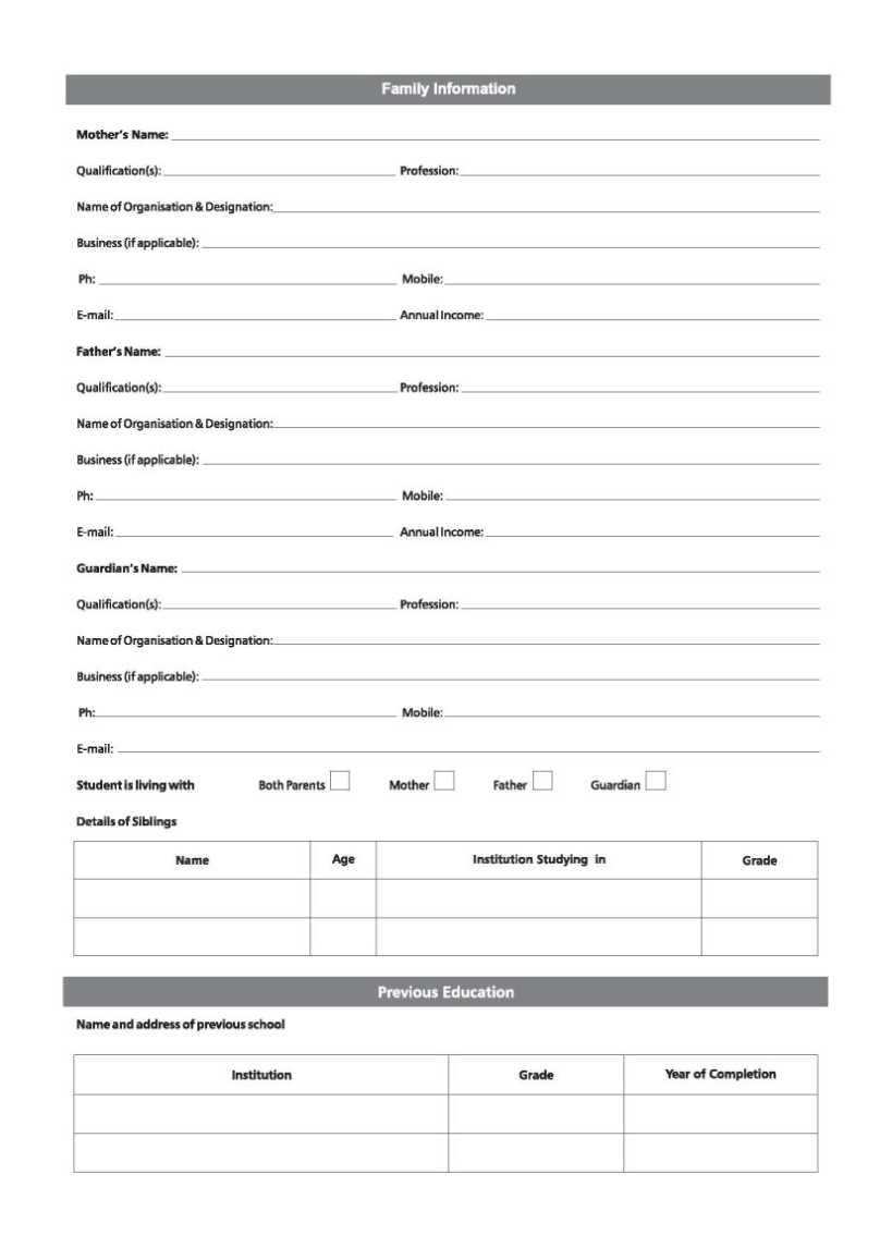 medium of instruction certificate from school