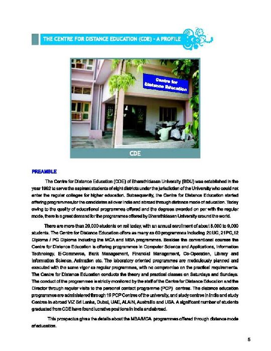 Mba In Bharathidasan University 2018 2019 Studychacha