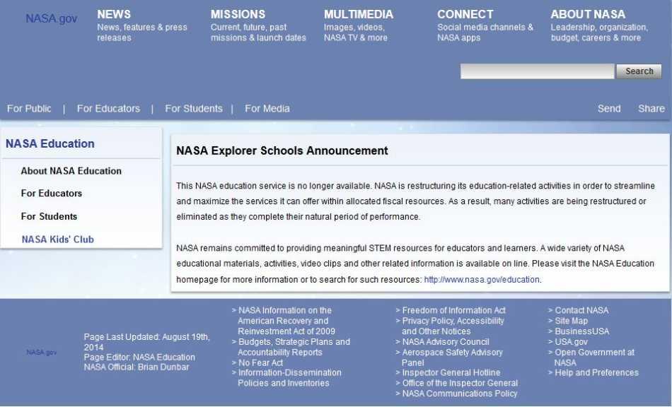 2018-2019 StudyChaCha - Reply to Topic - NASA Explorer ...