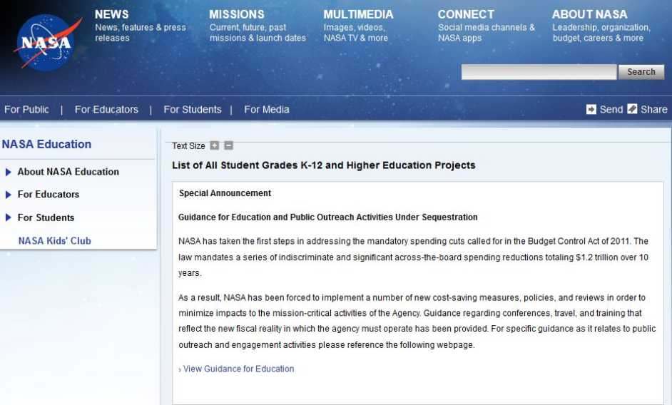 NASA Explorer Schools Program - 2018-2019 StudyChaCha