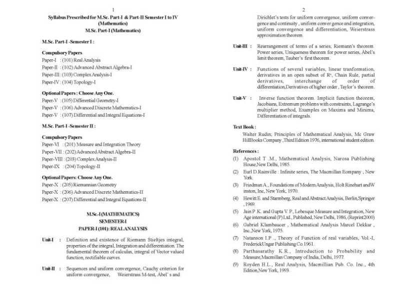 Sant Gadge Baba Amravati University M.sc Maths 1st Year Question ...