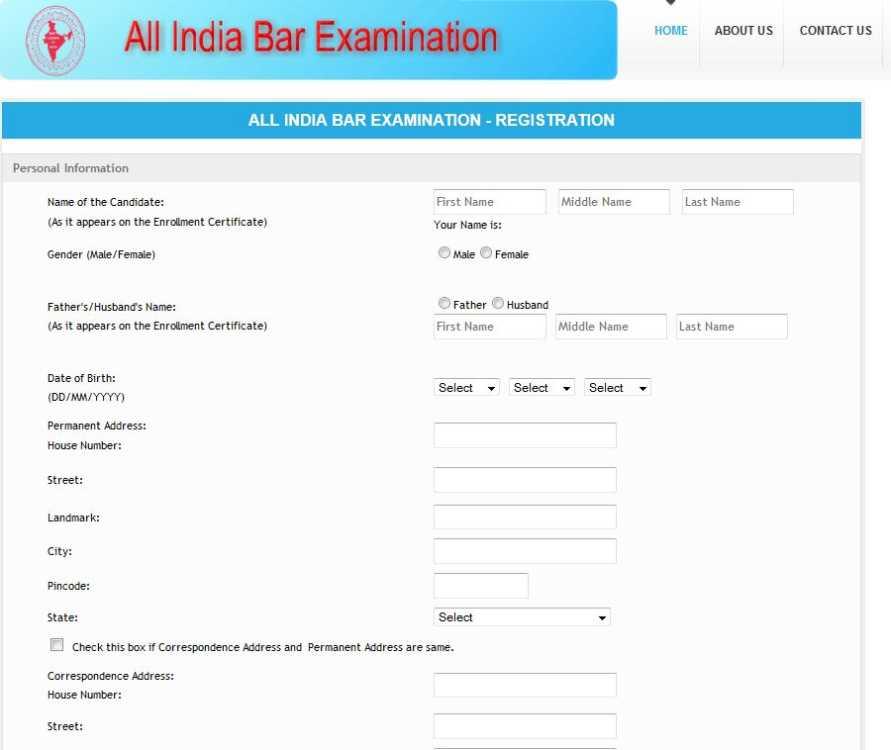 Application form for Bar Council Exam - 2018-2019 StudyChaCha