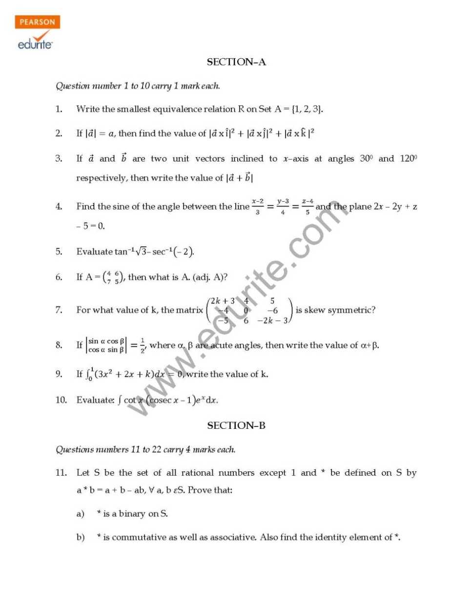 algebra and calculus sample paper Intermediate algebra questions are presented with their answers.