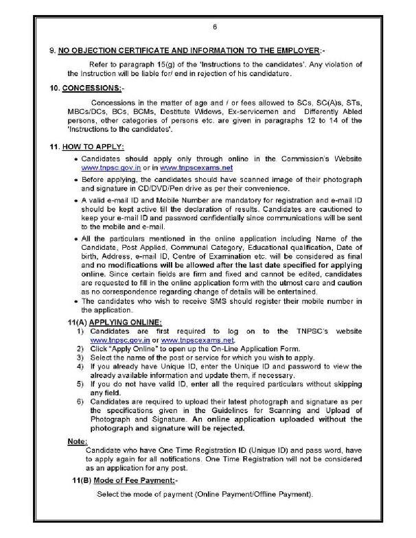 Tnpsc group 4 online application last date in Perth