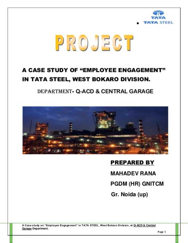 employee engagement project report 2016 state of employee engagement in the inaugural state of employee engagement report, we take a detailed look at: • the importance of employee engagement.