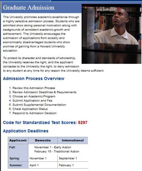 Admission Requirements  University Graduate School