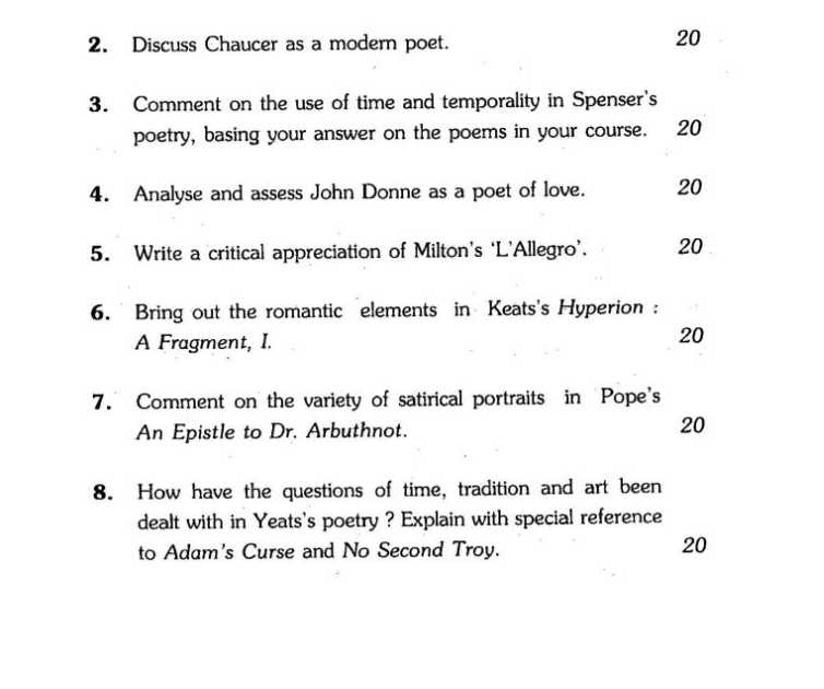 essay questions about poetry Practice essay questions (int 2 and national 5) january 8 poetry questions 1 choose a poem which could be considered as having a powerful message.